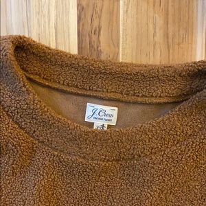 J.Crew • Brown Vintage Teddy Sherpa Pullover
